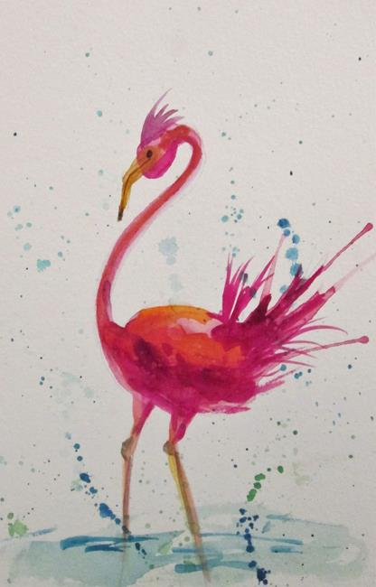Art: Pink Flamingo No.16 by Artist Delilah Smith