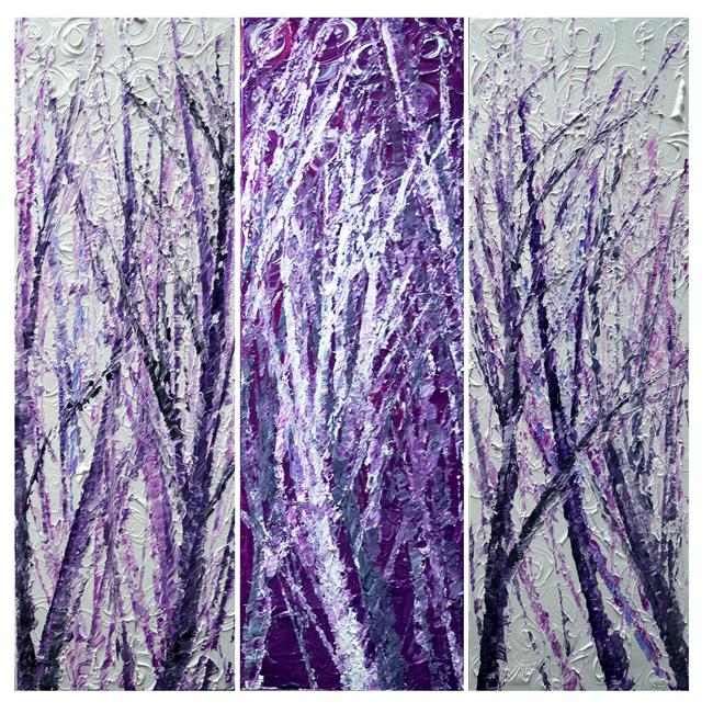 Art: WHITE PURPLE LAVENDER by Artist LUIZA VIZOLI