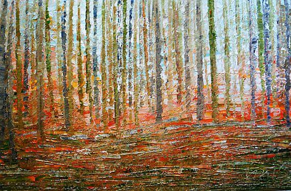 Art: A Walk in the Woods by Artist LUIZA VIZOLI