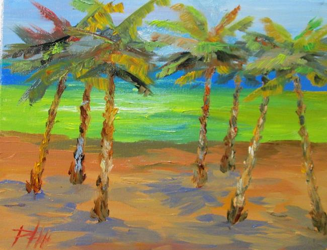 Art: Palm Trees on the Beach No. 2 by Artist Delilah Smith