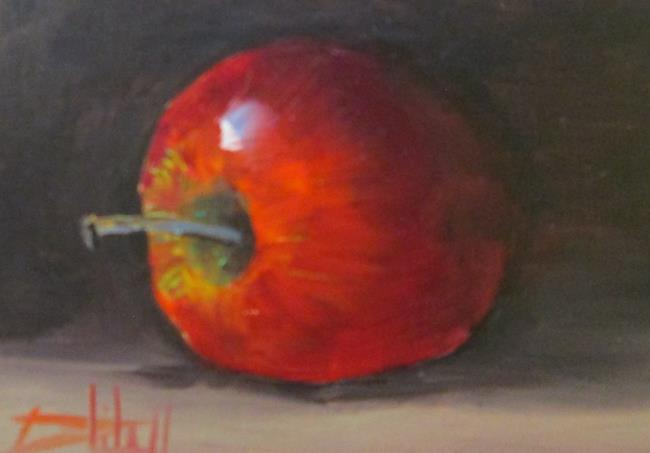 Art: Apple No 15 in Apple Series by Artist Delilah Smith