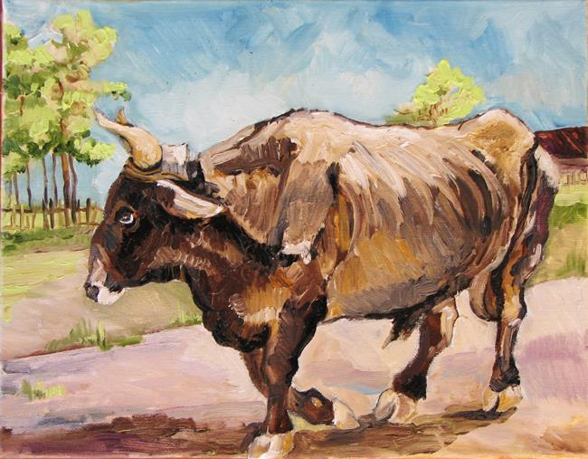 Art: Etude of Bull by Artist Luda Angel