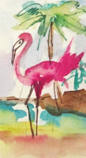 Art: Pink Flamingo No. 17 by Artist Delilah Smith