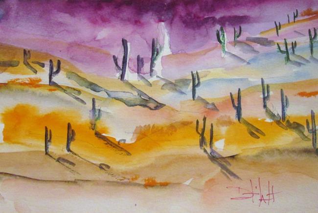 Art: Desert Sunset No. 3 by Artist Delilah Smith