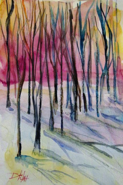 Art: Tall Trees by Artist Delilah Smith