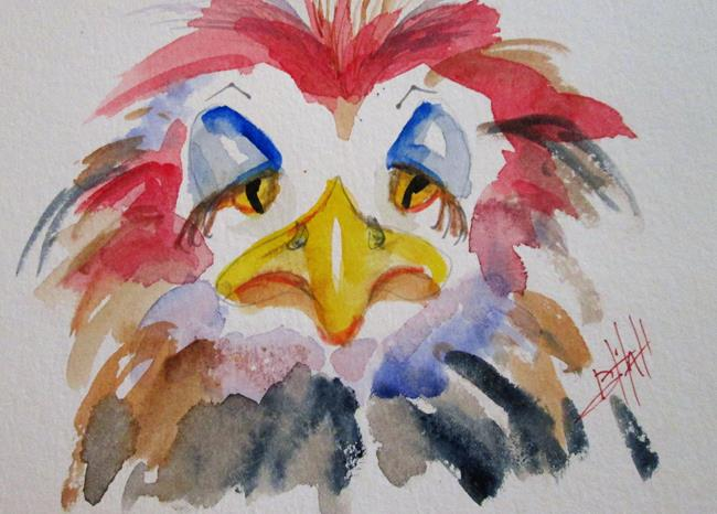 Art: Grumpy Bird by Artist Delilah Smith