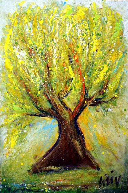 Art: The Old Tree by Artist LUIZA VIZOLI