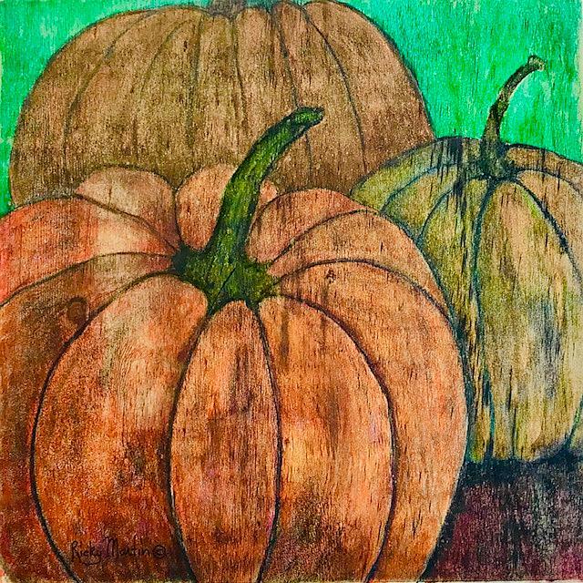 Art: Pumpkins by Artist Ulrike 'Ricky' Martin