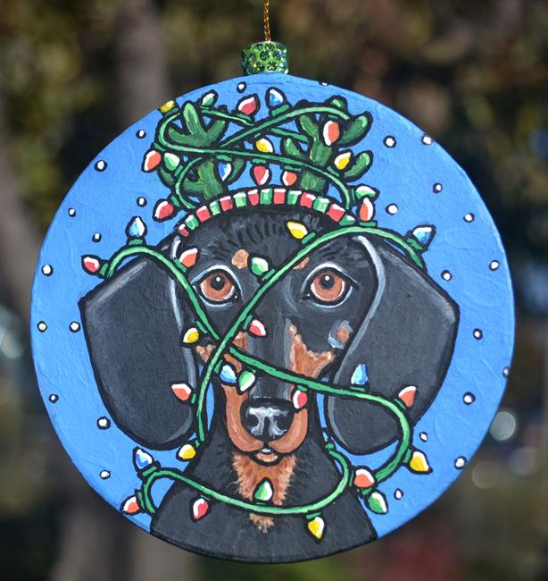Art: Dashing Dachshund by Artist Melinda Dalke