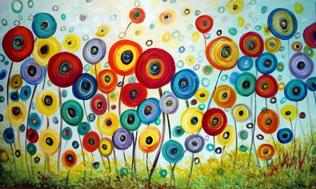 Art: POPPY FLOWERS by Artist LUIZA VIZOLI