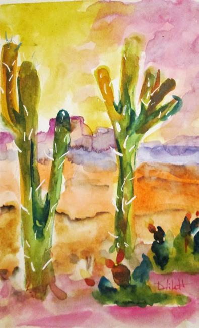 Art: Desert Landscape by Artist Delilah Smith