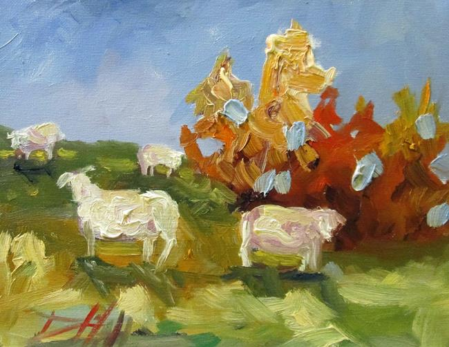 Art: Sheep Farm by Artist Delilah Smith