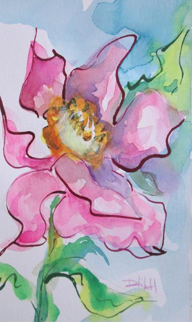 Art: Tropical Pink Flower by Artist Delilah Smith