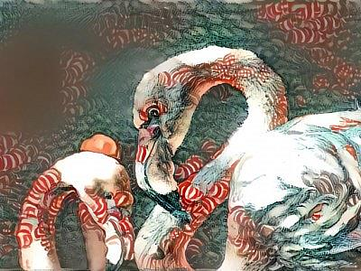 Art: csndy cane flaming by Artist Alma Lee