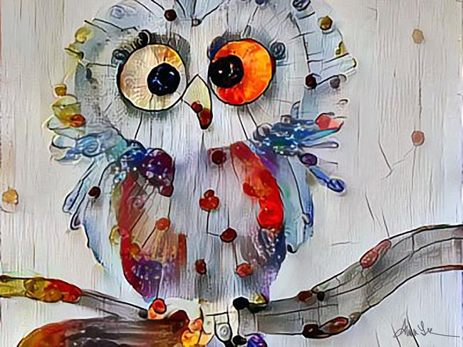 Art: quirky owl lr by Artist Alma Lee