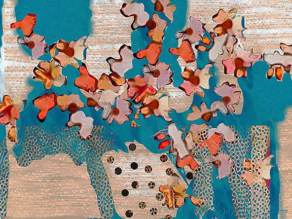 Art: polka dot viv vase lr by Artist Alma Lee