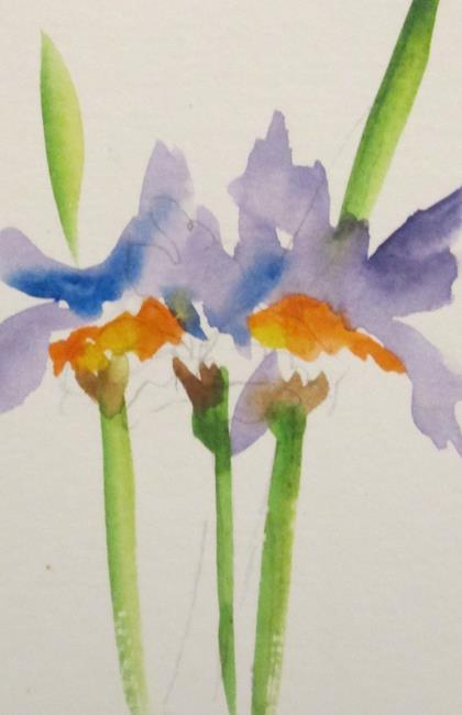 Art: Purple Iris by Artist Delilah Smith