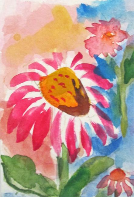 Art: Pink Daisy by Artist Delilah Smith