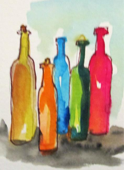 Art: Wine Bottles by Artist Delilah Smith