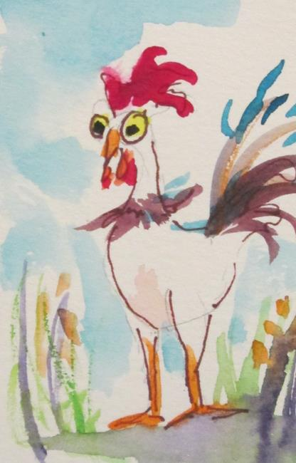 Art: Rooster No. 35 by Artist Delilah Smith