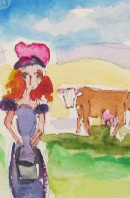 Art: Eight Maids a Milking by Artist Delilah Smith