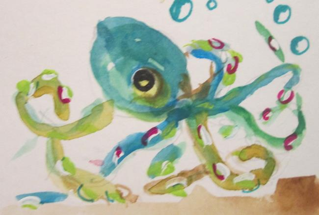 Art: Octopus by Artist Delilah Smith