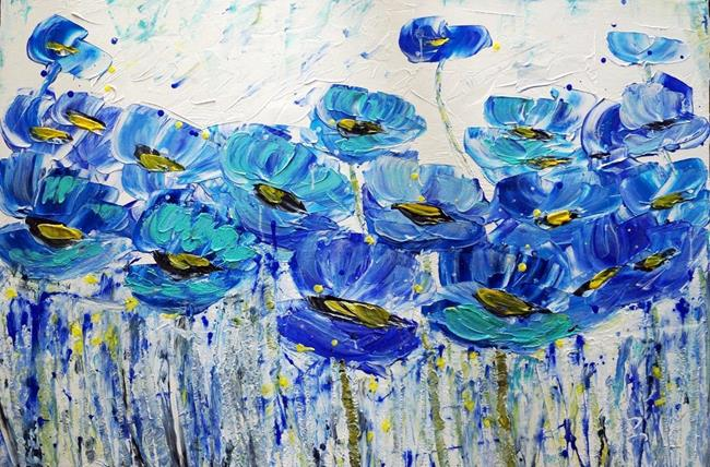 Art: SUMMER BLISS...BLUE by Artist LUIZA VIZOLI