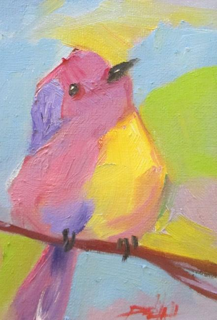 Art: Chubby Bird No. 2 by Artist Delilah Smith