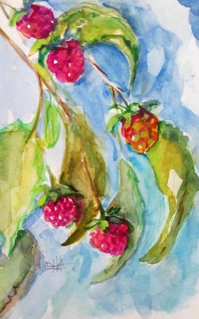Art: Raspberry Bush by Artist Delilah Smith