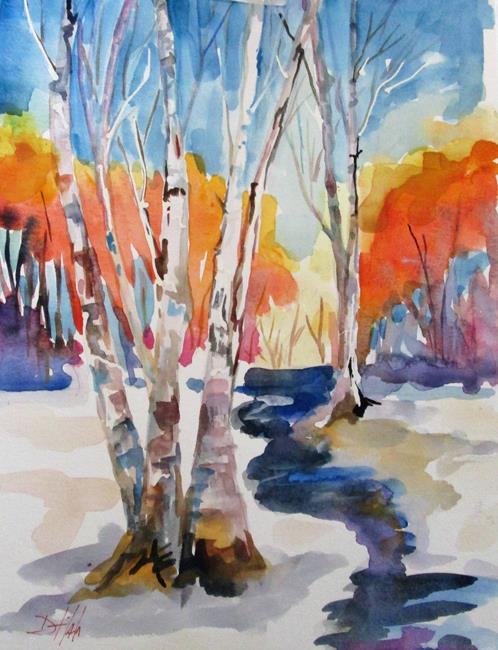 Art: Winter Birch by Artist Delilah Smith