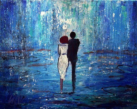 Art: BLUE LIGHTS by Artist LUIZA VIZOLI