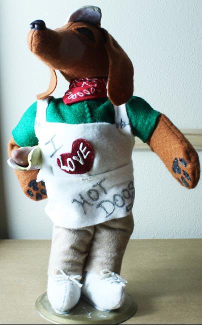Art: Dachshund Hot Dog Vendor by Artist Laura Barbosa
