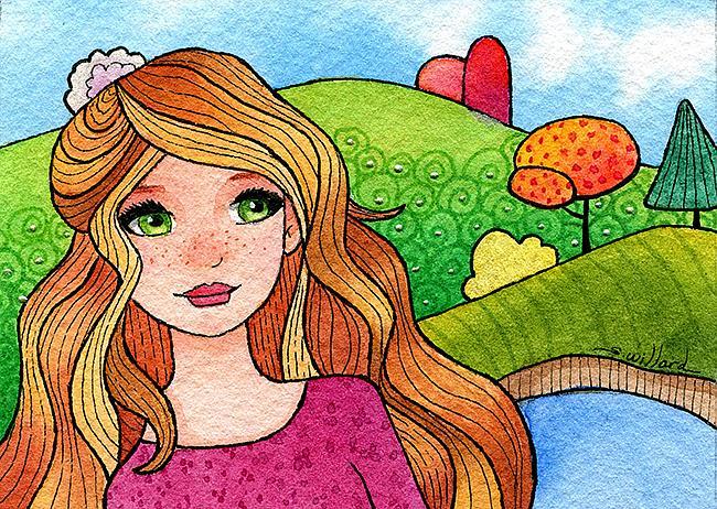 Art: Freckles by Artist Sandra Willard