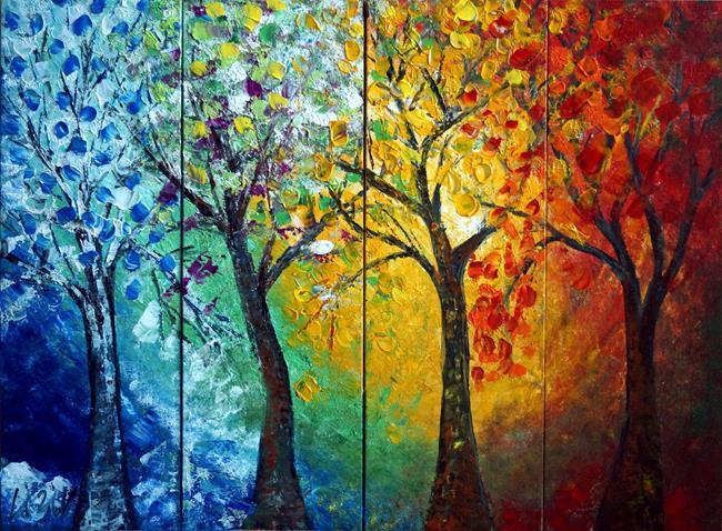 Art: Journey Through Seasons by Artist LUIZA VIZOLI