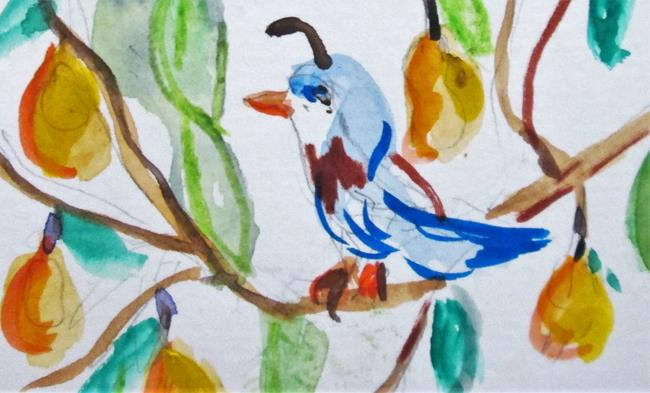 Art: A Partridge in a Pear Tree No. 7 by Artist Delilah Smith