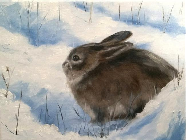 Art: Snow Bunny by Artist Kimberly Vanlandingham