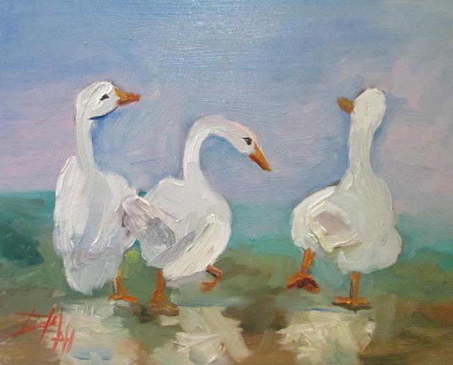 Art: Three Ducks by Artist Delilah Smith