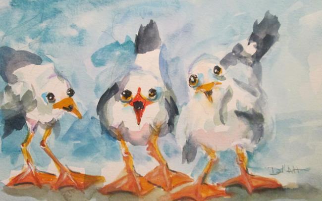 Art: Three Gulls by Artist Delilah Smith