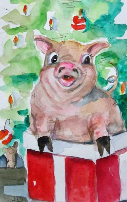 Art: Christmas Pig No. 2 by Artist Delilah Smith