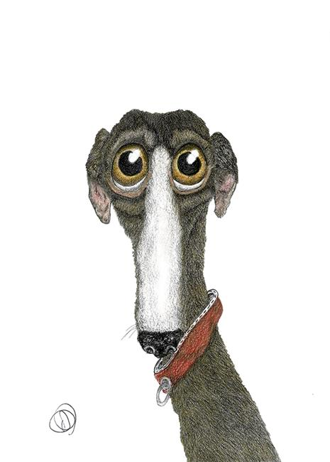 Art: GREYHOUND g1090 by Artist Dawn Barker