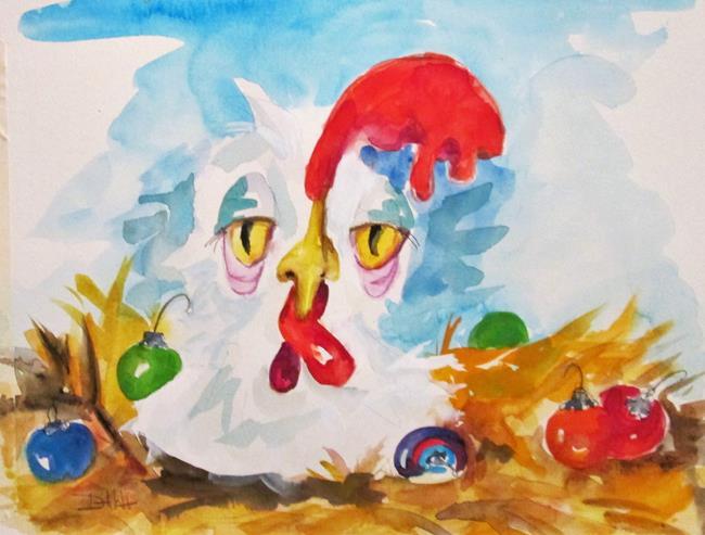 Art: Christmas Hen No. 2 by Artist Delilah Smith