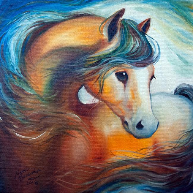 Art: WENDY my HORSE by Artist Marcia Baldwin
