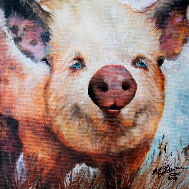 Art: PERSNICKETY my Dirty Little Pig by Artist Marcia Baldwin