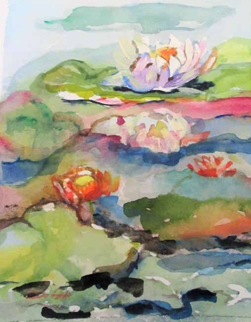 Art: Water Lillies by Artist Delilah Smith