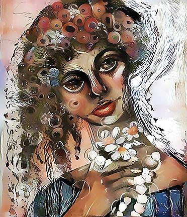 Art: Portrait in Ivory by Artist Alma Lee