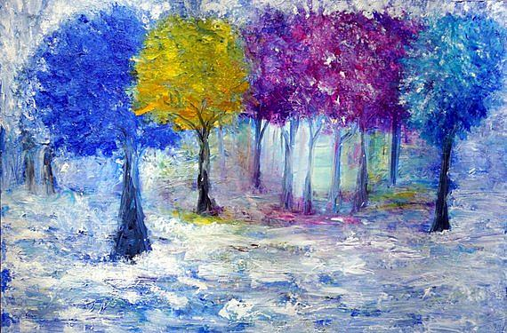 Art: Enchanted Trees by Artist LUIZA VIZOLI