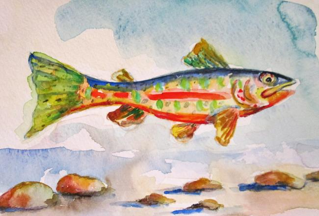 Art: Golden Trout by Artist Delilah Smith
