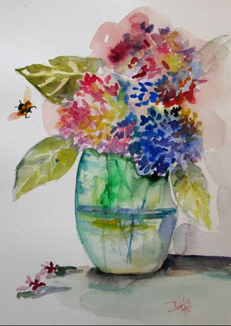 Art: Fading Hydrangeas by Artist Delilah Smith