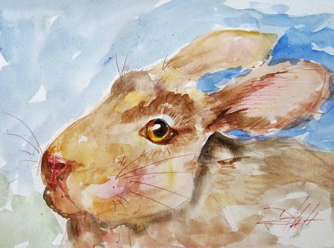 Art: Cottontail Rabbit by Artist Delilah Smith