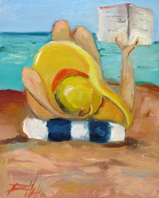 Art: Beach Read by Artist Delilah Smith